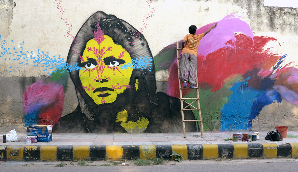 India Graffiti - Bangalore - stinkfish