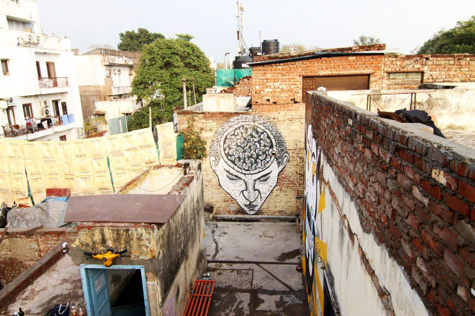 India Graffiti - Delhi - Anpu - Brain Curry