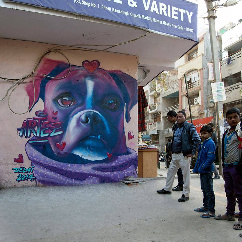 India Graffiti - Delhi - dog