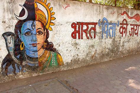 India Graffiti - Mumbai - Bharat pita ki jai