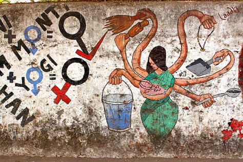 India Graffiti - Mumbai - multitasking