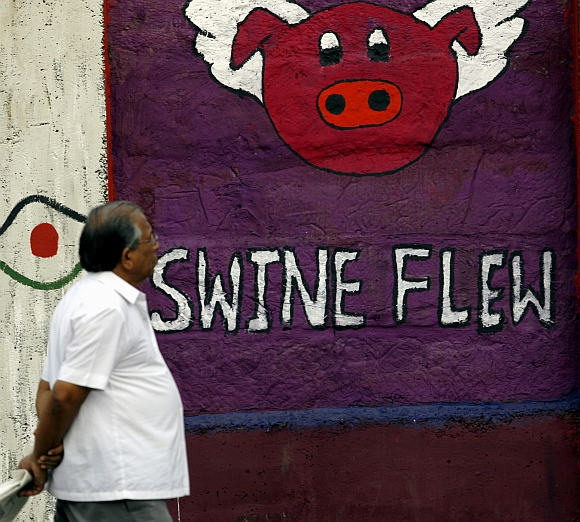 India Graffiti - Mumbai - swine flu