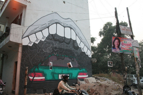 India Graffiti - Random - Anpu Varkey's Traffic Eater