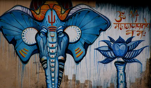 India Graffiti - Random - Elephant