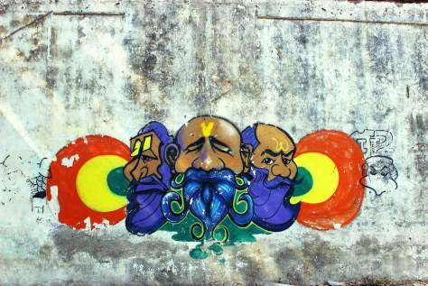 India Graffiti - Random - three men