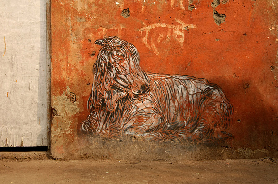 India Graffiti - c215 cow
