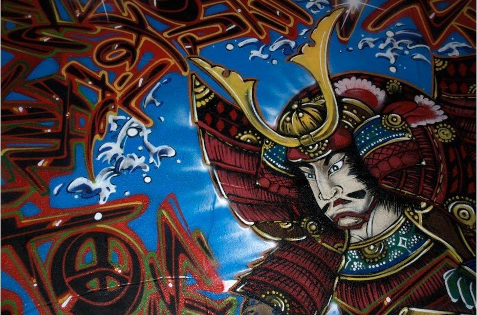 Japanese Graffiti - warrior samurai