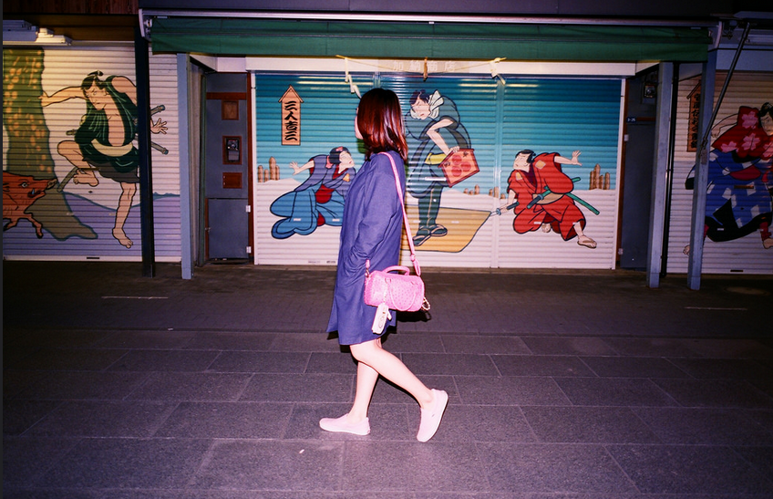 Japanese Street Art - with girl