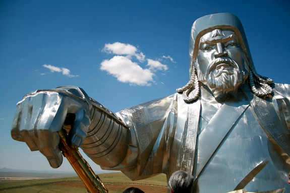 Mongolia Statues - Giant Genghis Khan face