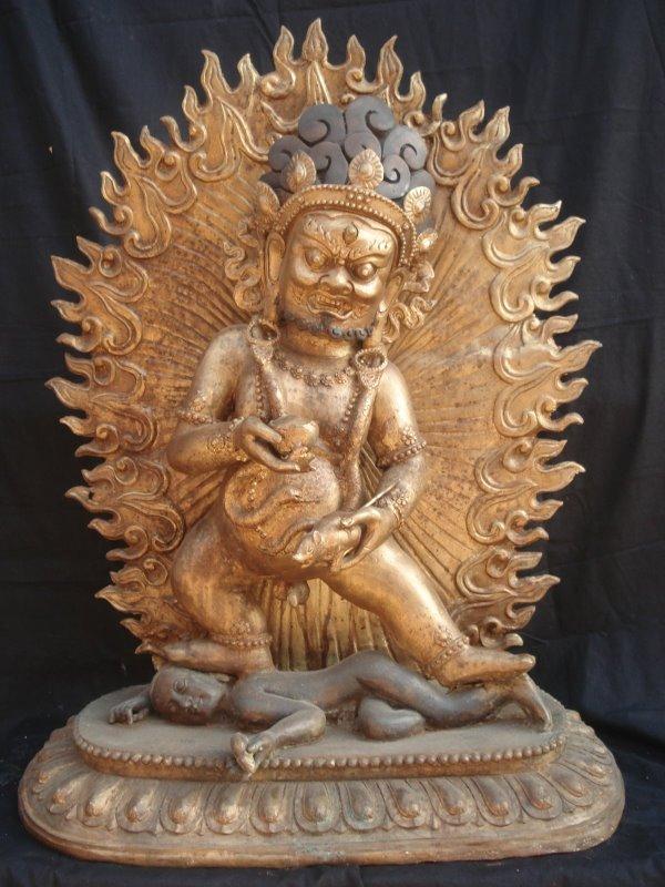 Mongolia Statues - Mongolian Mahakala Statue 2
