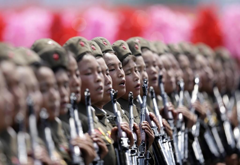 North Korean Human Rights - womens troops