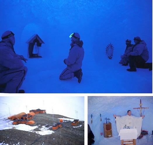 Religion in Antarctica - Belgrano II Base, Coats Land ice chapel
