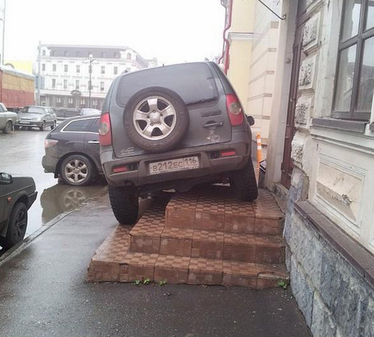 Russia - best parking ever