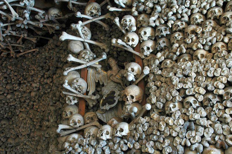 Skull Chapel, Czermna Poland interior