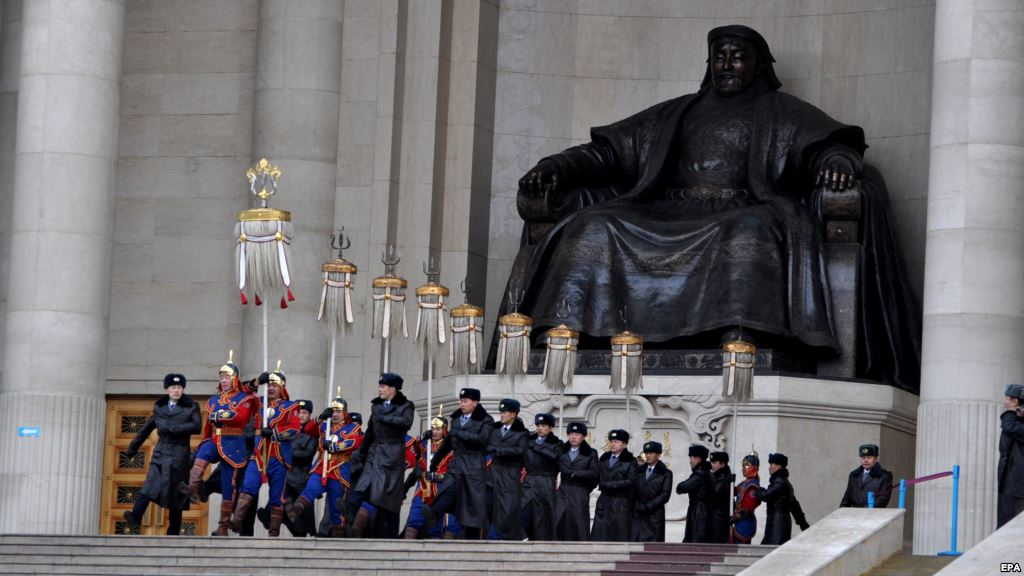Statues of Mongolia - Genghis Khan in Ulan Bator 850th