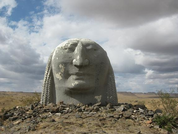 Statues of Mongolia - disembodied head