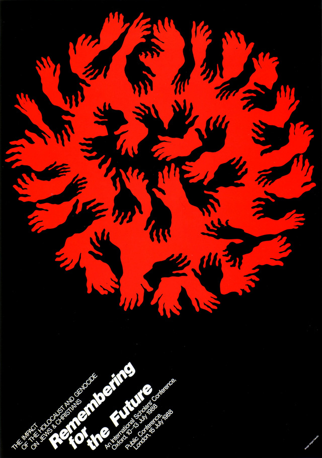 Vintage Japanese political posters - Remembering for the Future - Shigeo Fukuda, 1989