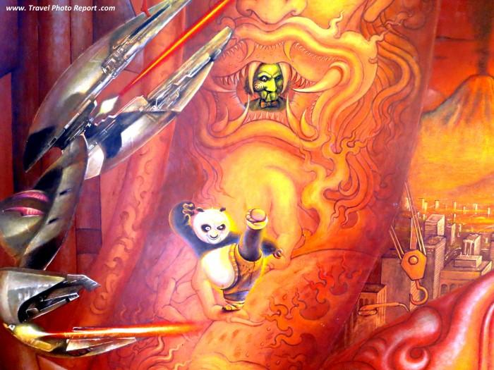 White Temple Thailand - interior - Kung Fu Panda