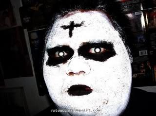 Black Metal Corpse Paint Girl
