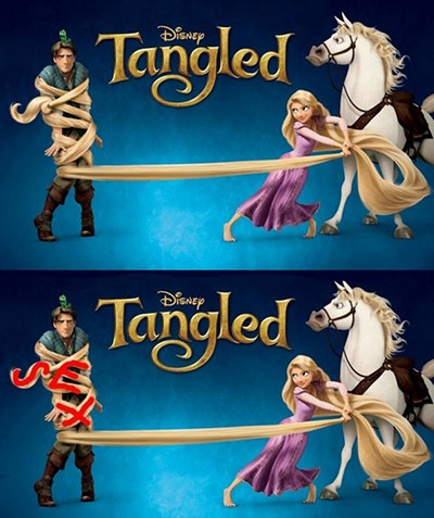 Disney Conspiracy Illuminati - Tangled
