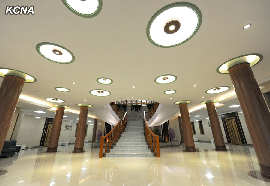 North Korea Yonphung Scientists Rest Home Entrance Hall