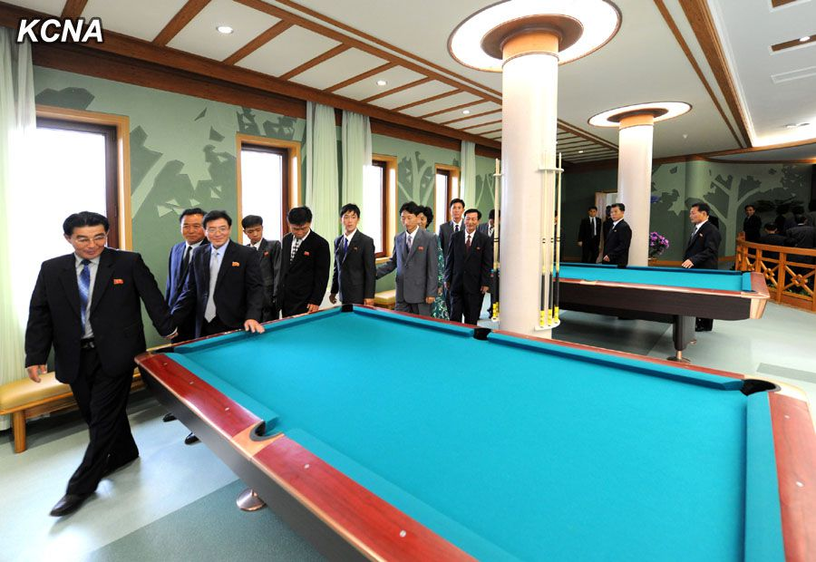North Korea Yonphung Scientists Rest Home Pool Table
