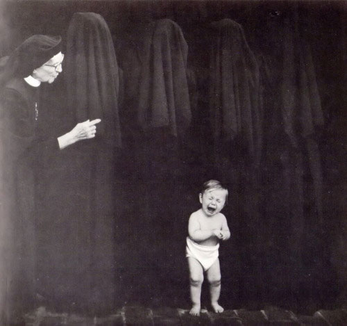 Old Creepy Photos - Crying Baby