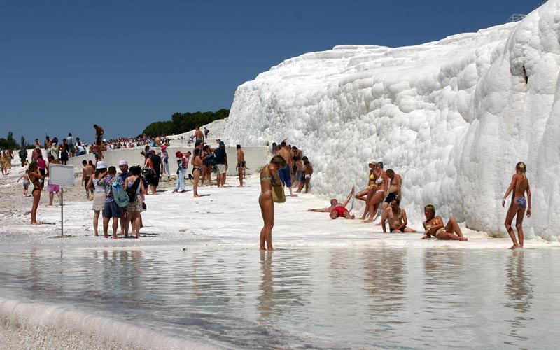 Pamukkale Turkey - Looks like snow