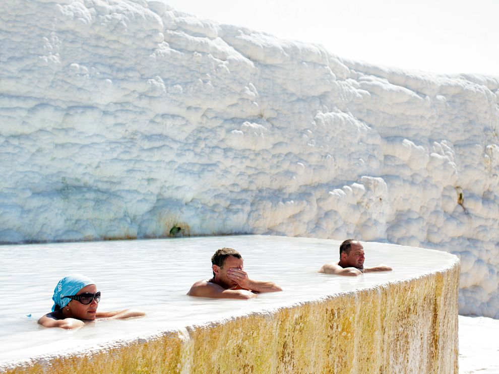 Pamukkale Turkey - Soaking