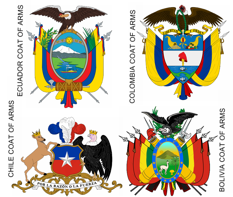 Andean Condor on Coats Of Arms South America Symbol