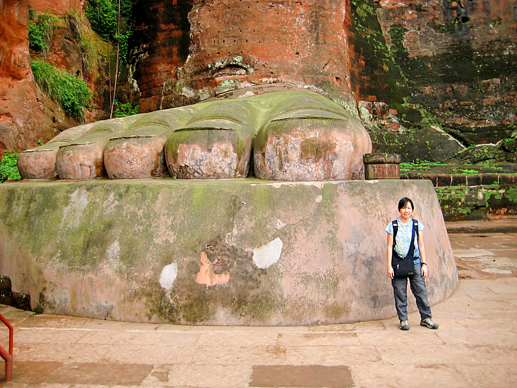 Leshan Giant Buddha - China - Foot