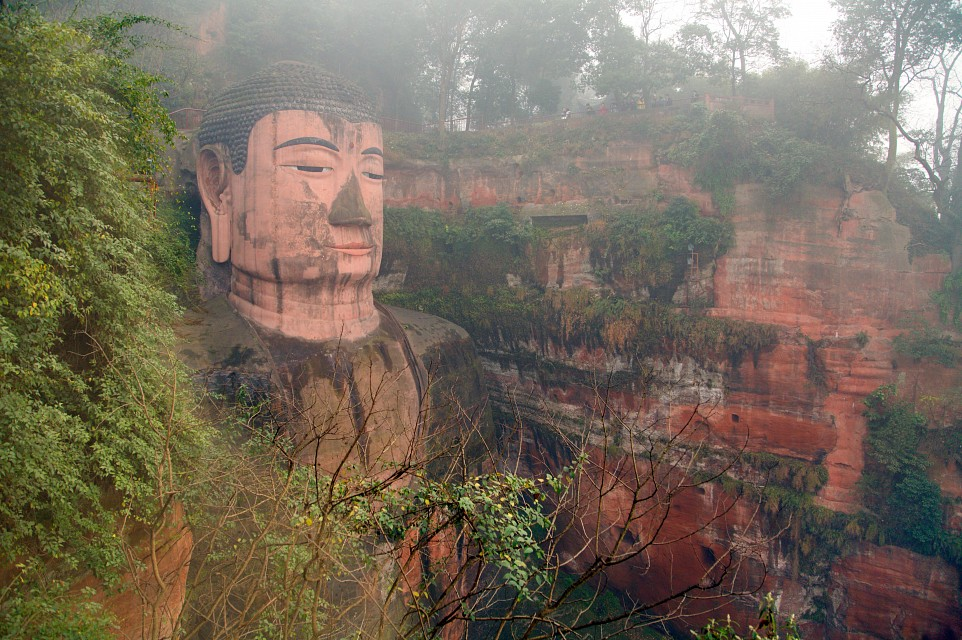 Leshan China  City new picture : Leshan Giant Buddha China Through the trees