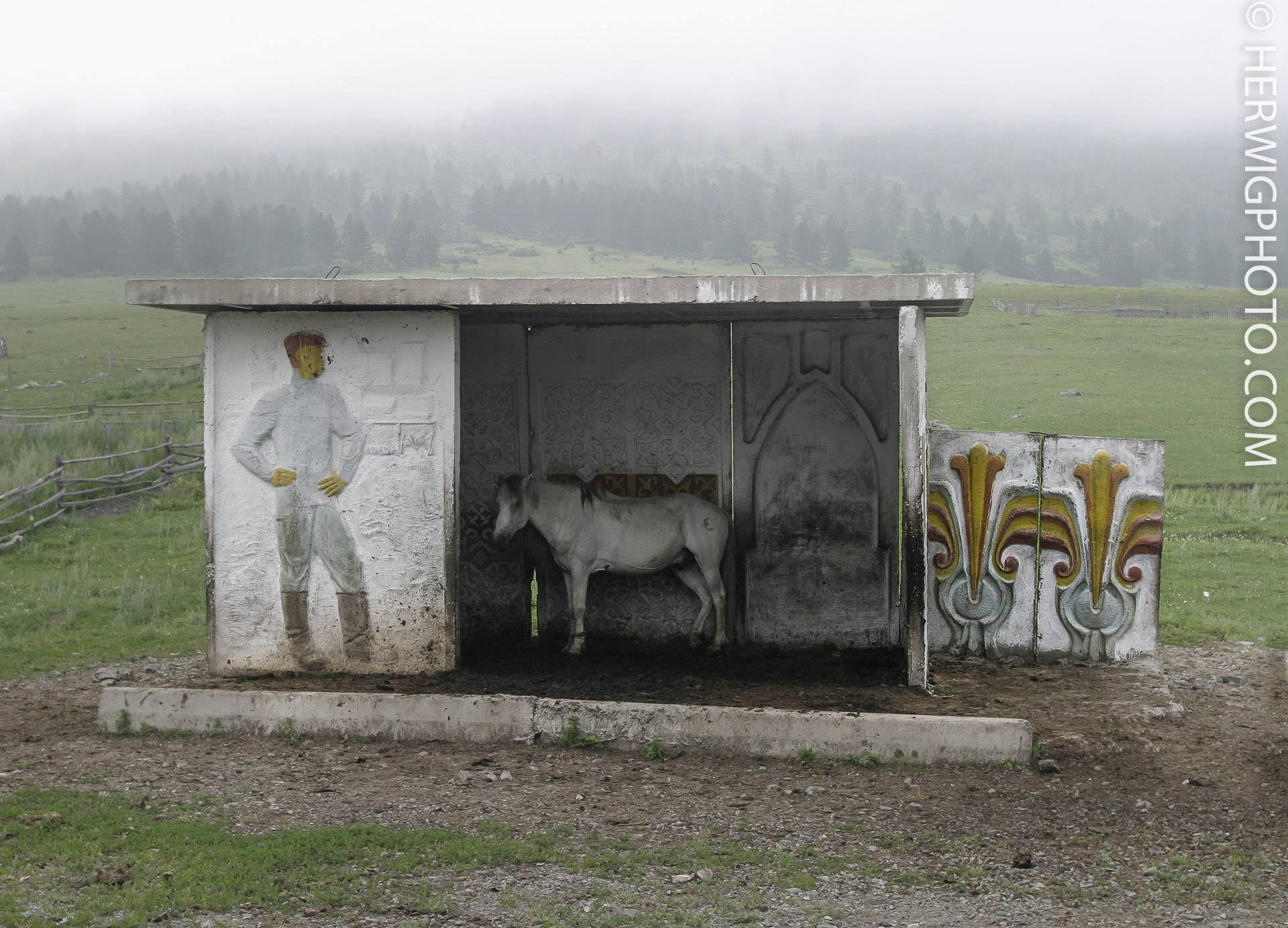 Soviet Bus Stops - Christopher Herwig - Altay Mountains, KAZAKHSTAN