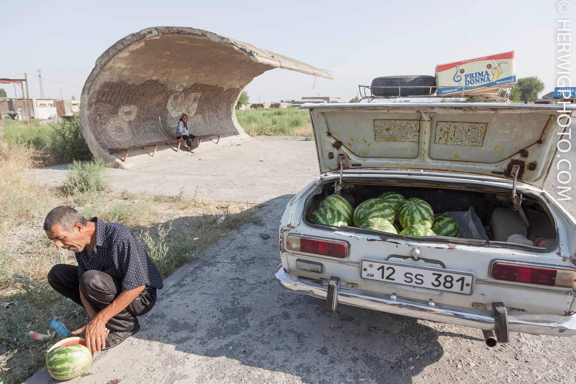 Soviet Bus Stops - Christopher Herwig - Echmiadzin, ARMENIA