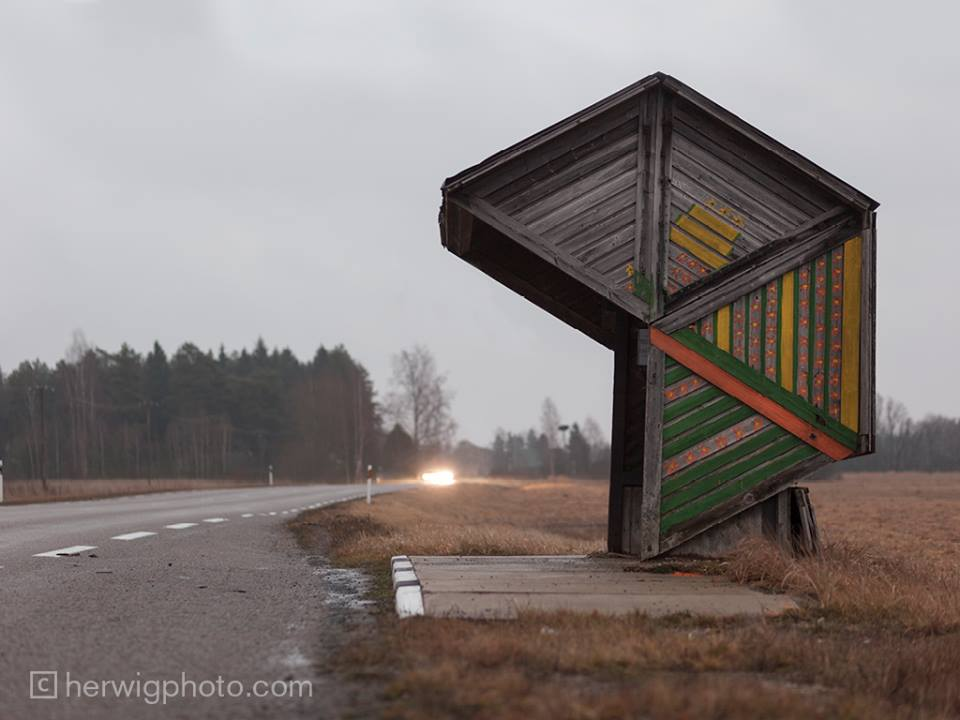Soviet Bus Stops - Christopher Herwig - Kootsi, Viljandimaa, Estonia