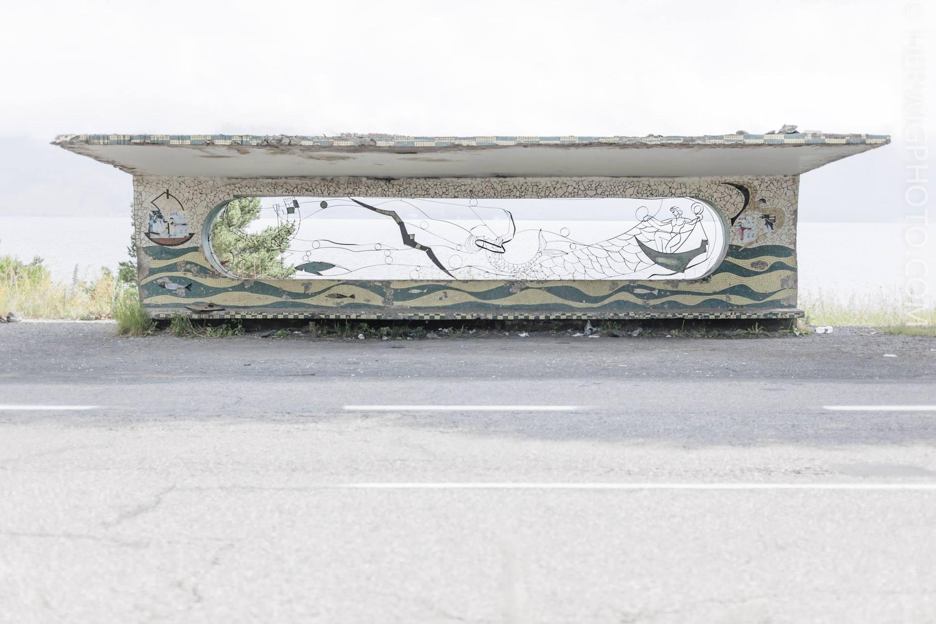 Soviet Bus Stops - Christopher Herwig - Lake Sevan, Armenia