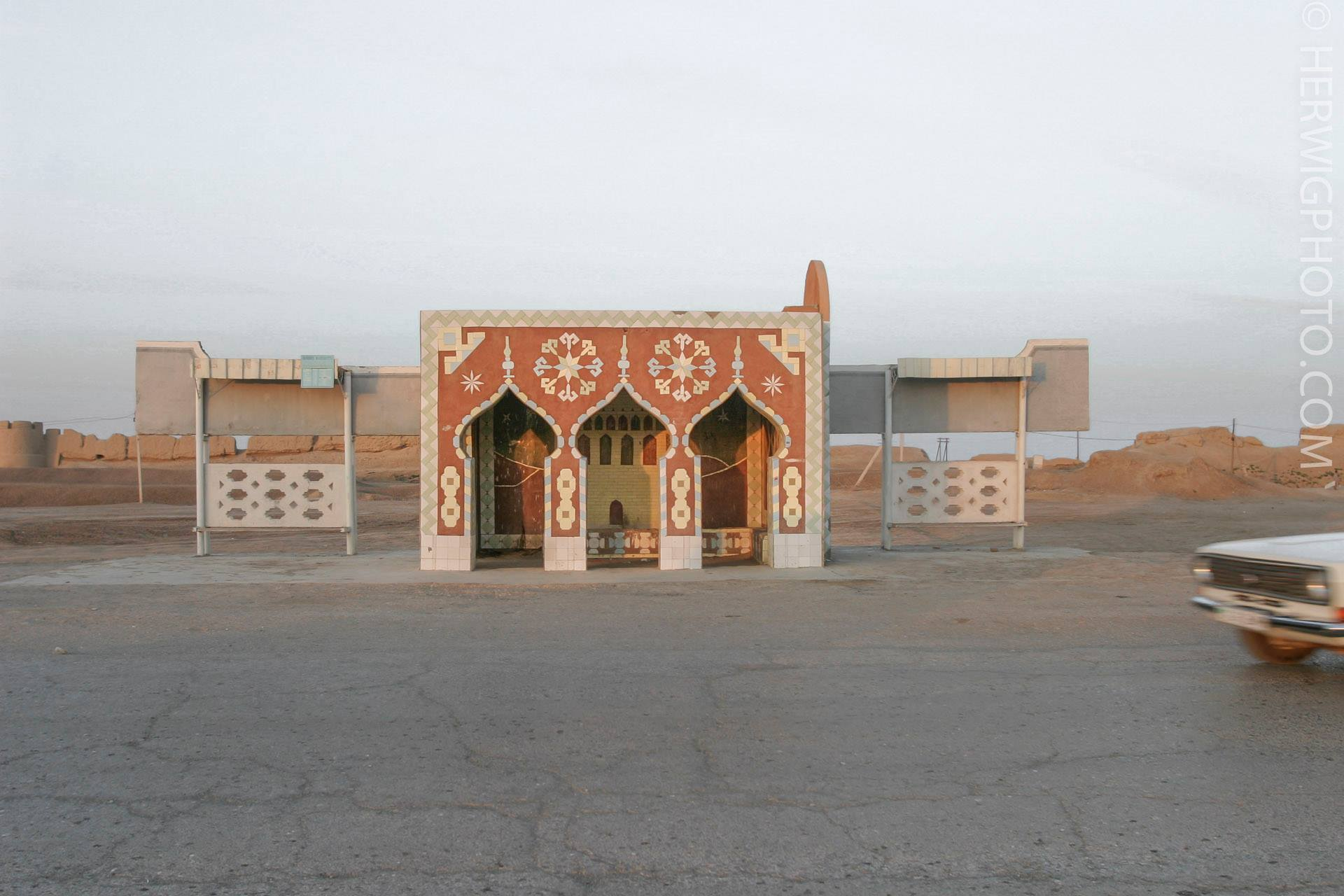 Soviet Bus Stops - Christopher Herwig - Merv, Turkmenistan, 2005