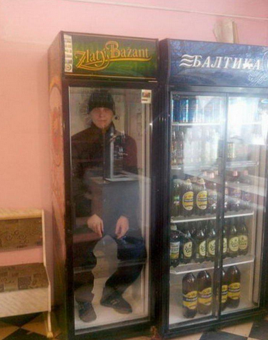 Awesome Photos From Russia With Love - Man in Fridge
