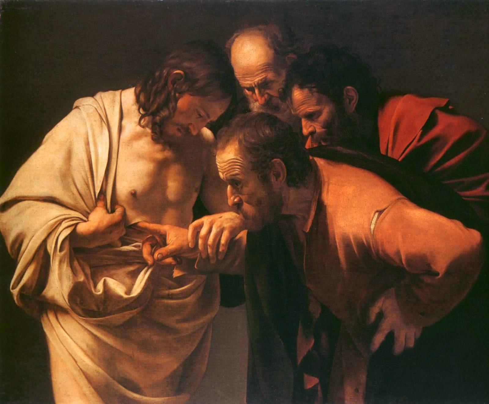 Best Baroque Painting - Caravaggio - The Incredulity of Saint Thomas