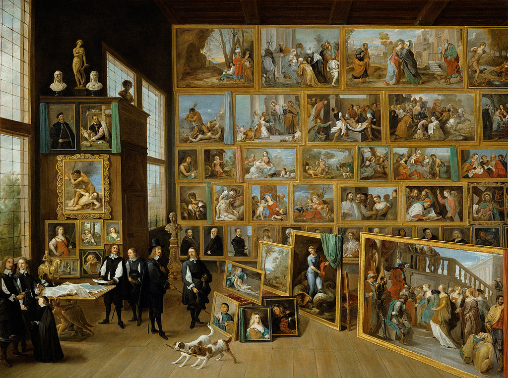 Best Baroque Painting - David Teniers the Younger, The Archduke Leopold Wilhelm in his gallery in Brussels