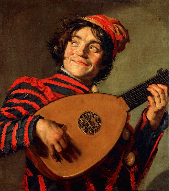 Best Baroque Painting - Frans Hals - Buffoon Playing a Lute