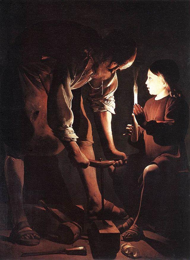 Best Baroque Painting - Georges de La Tour, Saint Joseph charpentier, 1642
