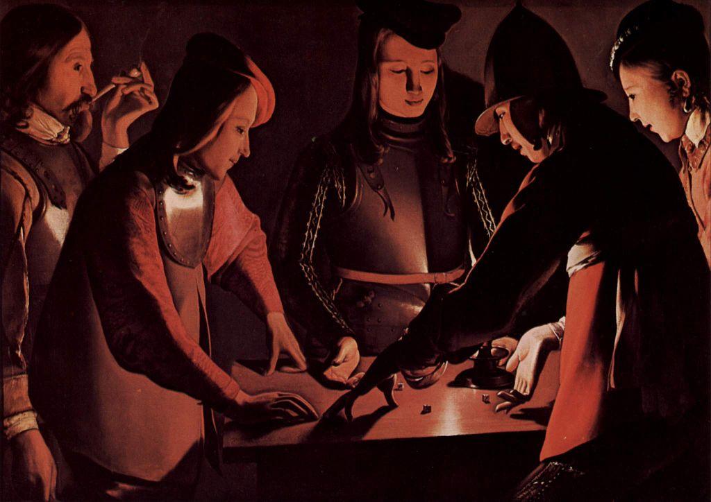Best Baroque Painting - Georges de La Tour - dice game
