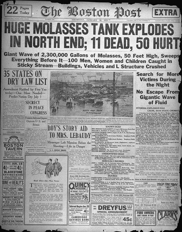 Boston Molasses Flood - Boston Post