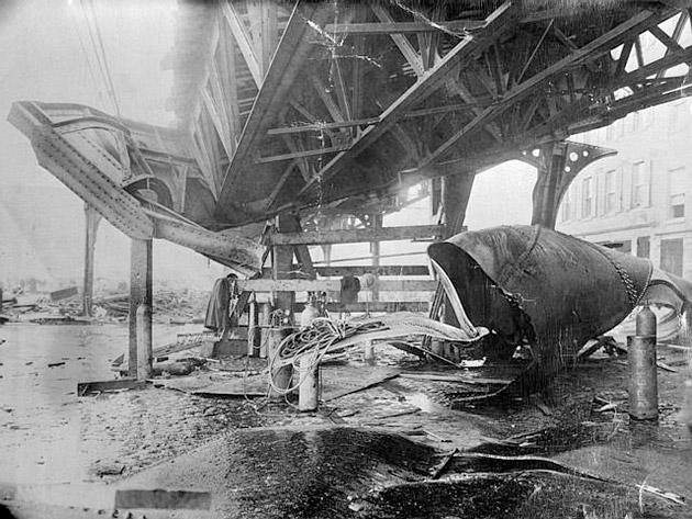 Boston Molasses Flood - Railway damage