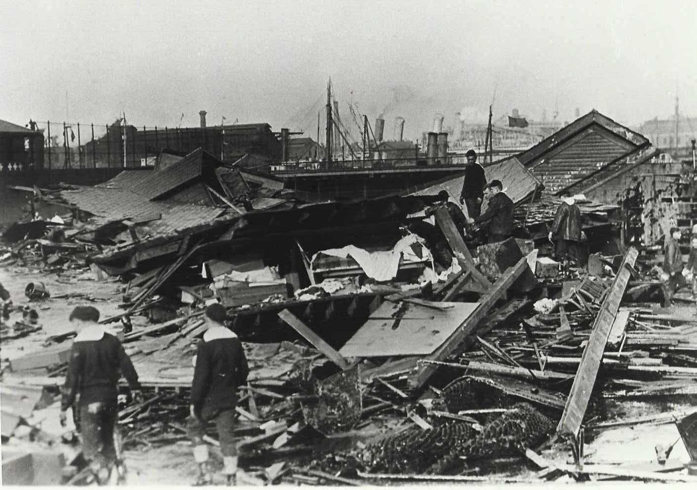 Boston Molasses Flood - house destroyed