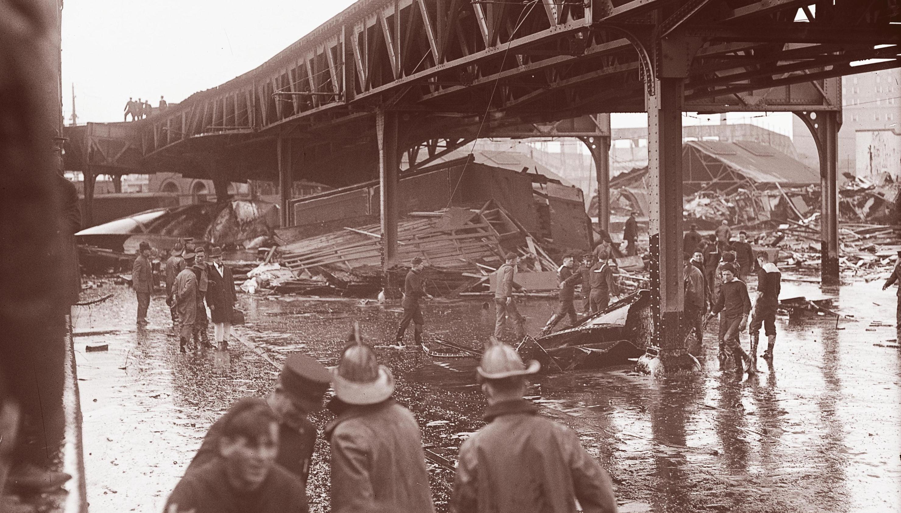 Boston Molasses Flood - what a mess