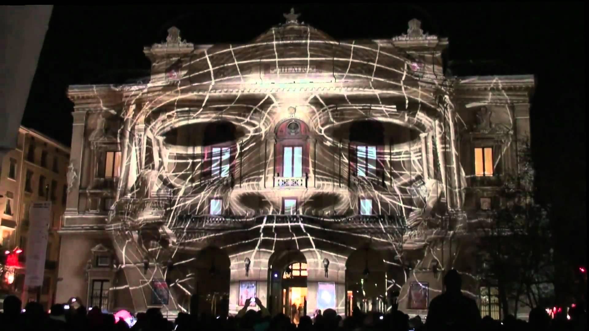 Lyon Festival Of Light - Scary Face
