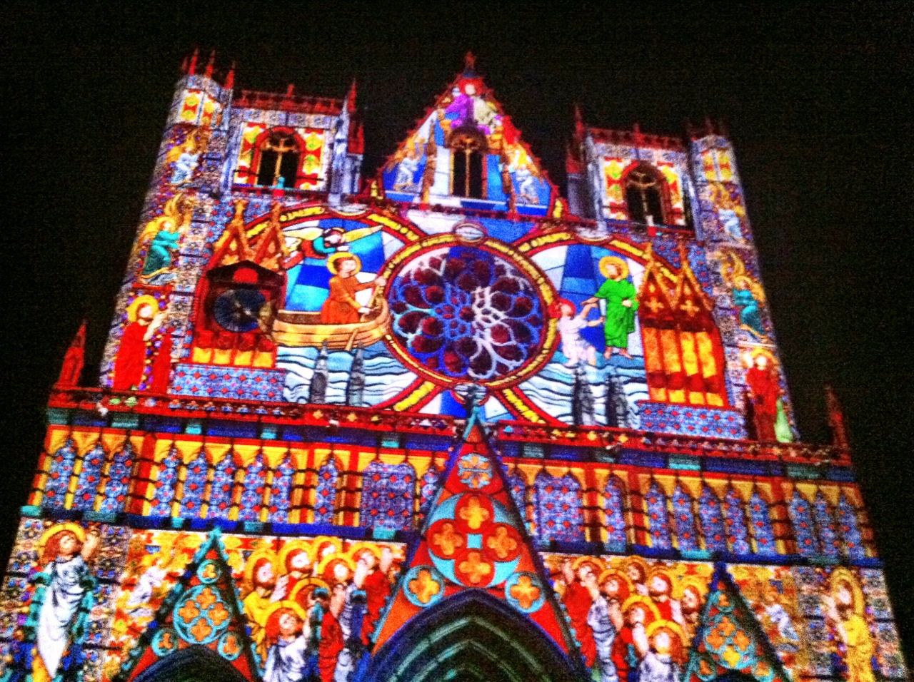 Lyon Festival Of Light - cathedral