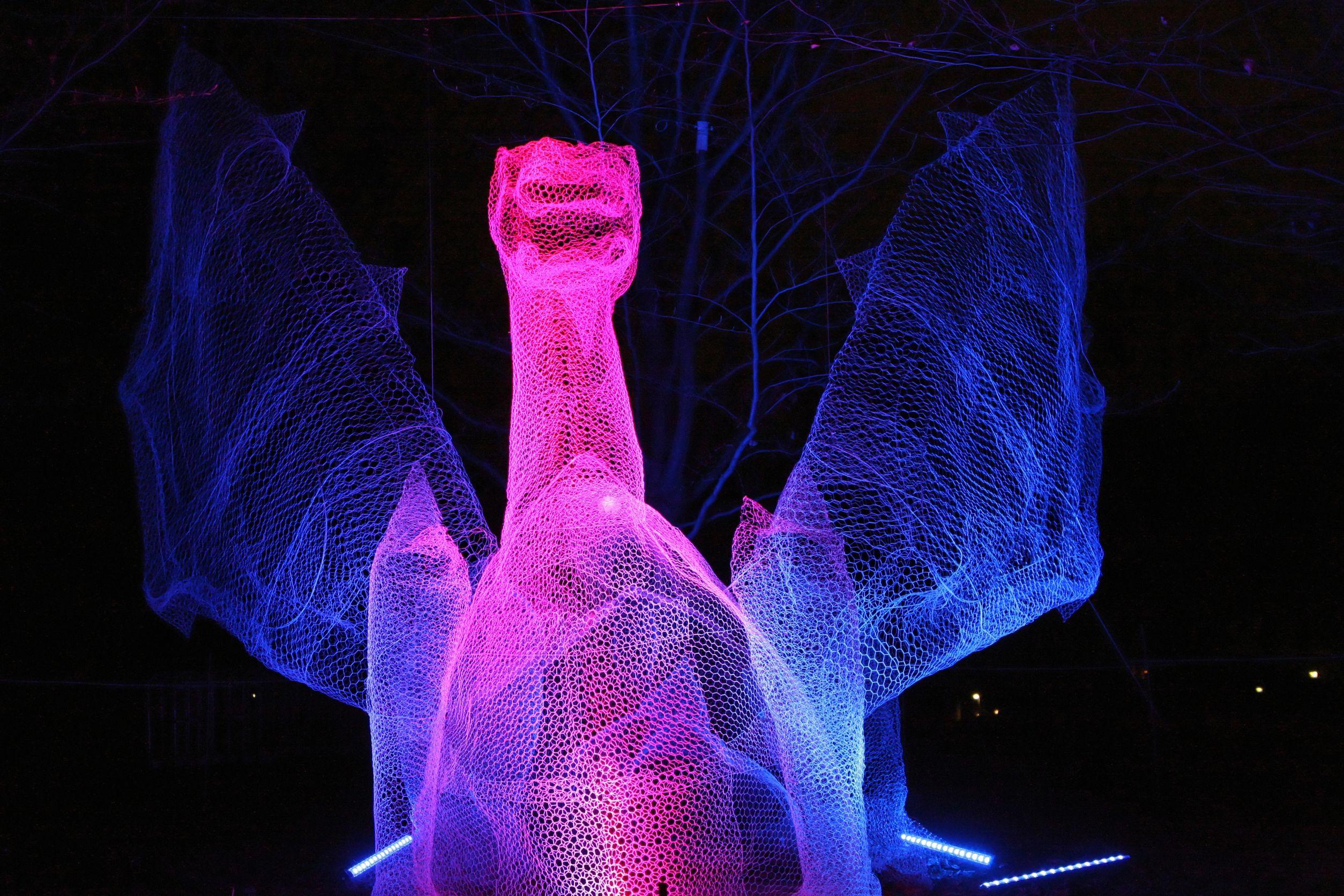 Lyon Festival Of Light - dragon installation